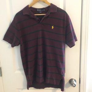 Striped Ralph Lauren Collared Polo Shirt. Sz M